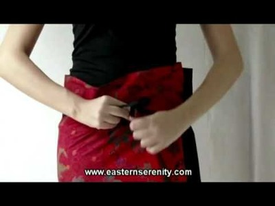 How To Wear- Red Jasmine Fold Over Skirt