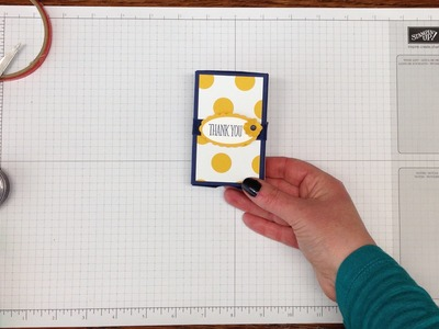 Make a Matchbox using the Stampin' Up! Envelope Punch Board