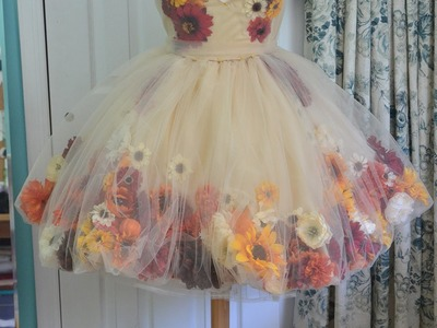 Making a Flower Fairy Dress - Part one