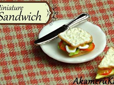 Miniature Sandwich tutorial - polymer clay dollhouse miniature