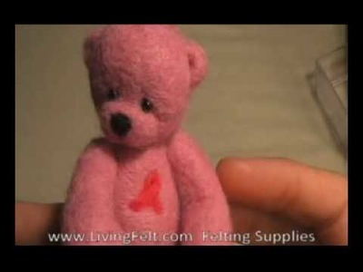 Needle Felting - Firmness Test, with Patience from Living Felt