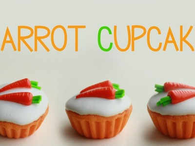 Polymer clay carrot cupcake TUTORIAL | cupcakes project part 4