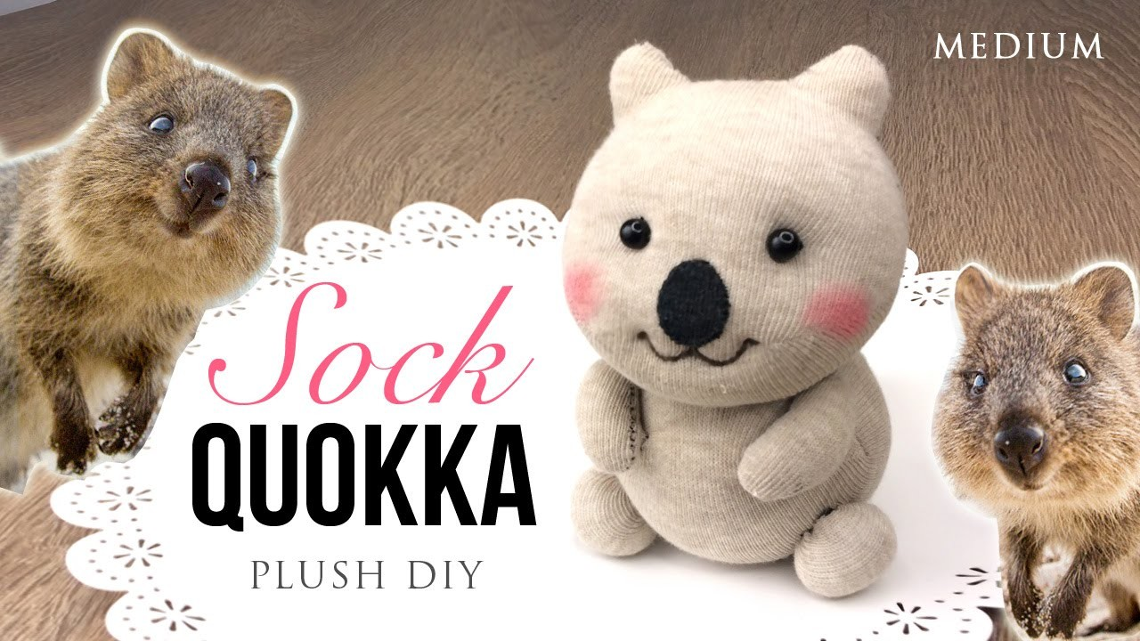 Quokka DIY Sock Plush - Adorable Money-Saving Craft Project