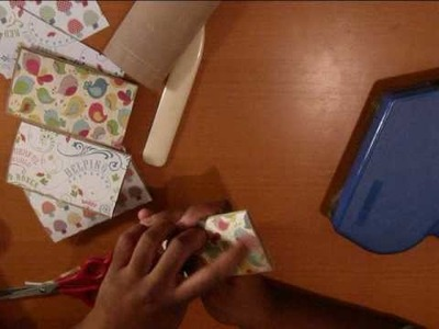 Recycled Toilet Paper Mini Album (Part 1)