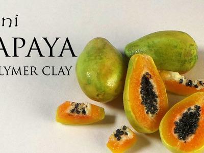 Simple Miniature Papaya Polymer Clay Tutorial