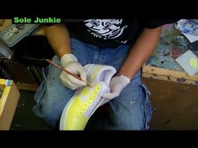 Sole Junkie Tutorial on Custom Sneakers