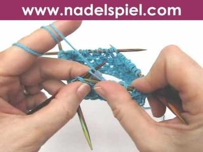 Stricken lernen * Netzpatent in Runden, Variante * Honeycomb Brioche Stitch in Rounds variation