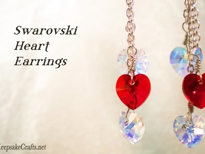Swarovski Crystal Heart Earrings Video Tutorial