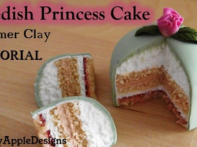 Tutorial: How to Make a Polymer Clay Swedish Princess Cake