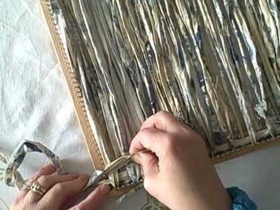 Weaving fabric strips on the 14 in Dewberry Ridge loom