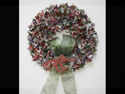 Wreaths By Kari ~ www.WreathsByKari.com  ~Custom made Fabric Wreaths