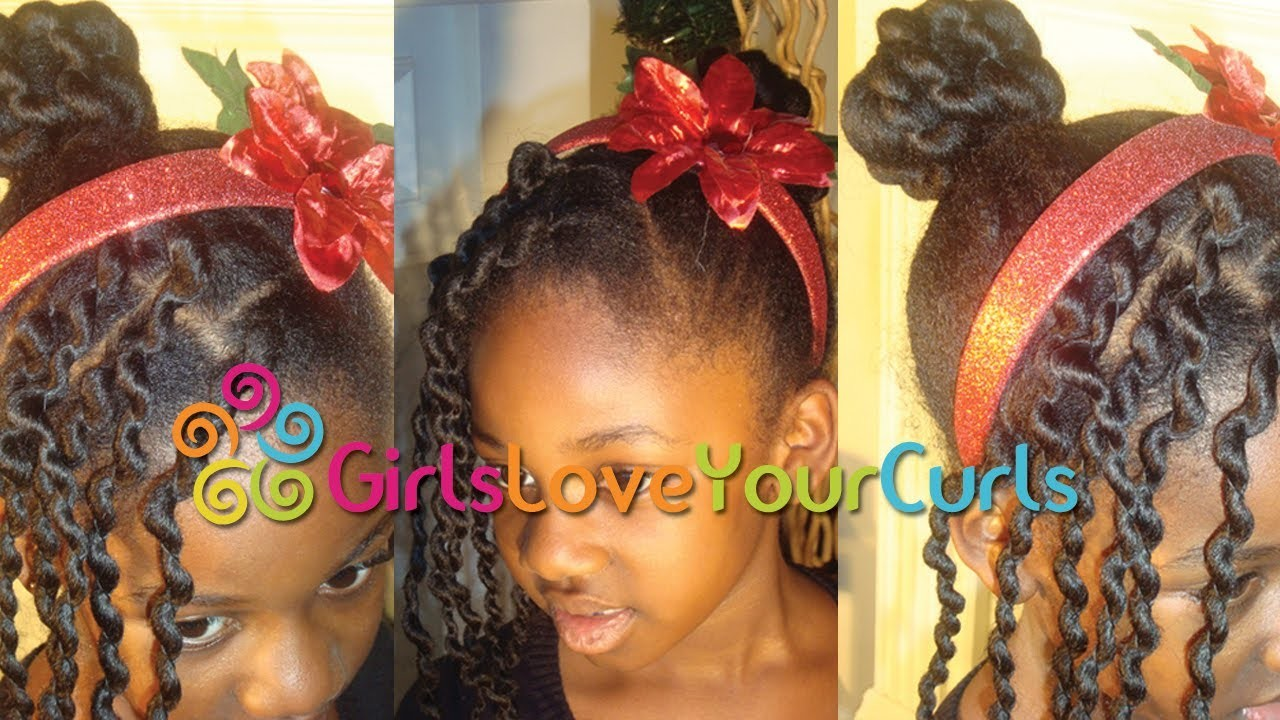 ♥ 26 ♥ African Threading: Twisted Bun with Box Braid Fringe.