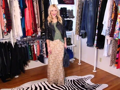 ANGELA ANSWERS: How To Wear Maxi Skirts For Fall.Winter?