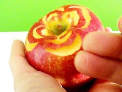 Art In Apples Show - Fruit Carving Apple flowers Tutorial