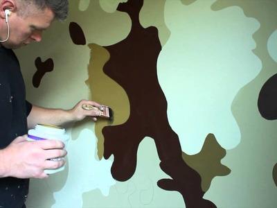 Boys bedroom Ideas Army Military Camouflage Room