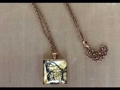 Butterfly Stamp Necklace Tutorial
