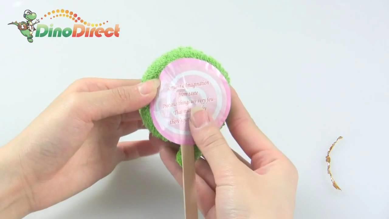 Charming Hand Towel Washcloth Shaped Swirl Lollipop Gift - dinodirect