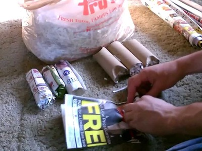 """Cook using only """"Junk Mail"""" - How to make """"Paper Logs"""" - burn in a Rocket Stove! - free fuel!"""