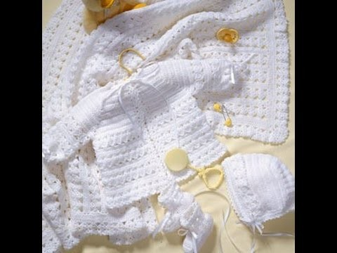 Crochet Along (CAL)  - Baby Layette Set  (Video 1)