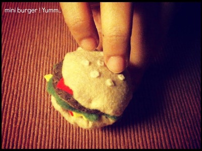 Day 1 of Mini Hamburger Set Meal Tutorial : Hamburger Plushie