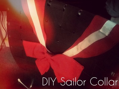 DIY Sailor Mars Cosplay: Sailor Collar Tutorial