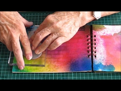Dylusion Ink Spray basics with Kerrie at Alice in Paperland Sydney
