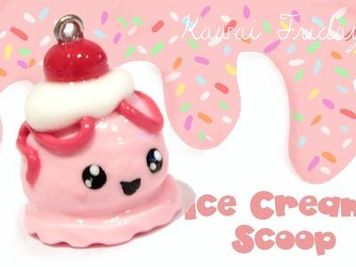 ◕‿‿◕ Ice Cream Scoop Kawaii Friday 72 (Tutorial in Polymer Clay)