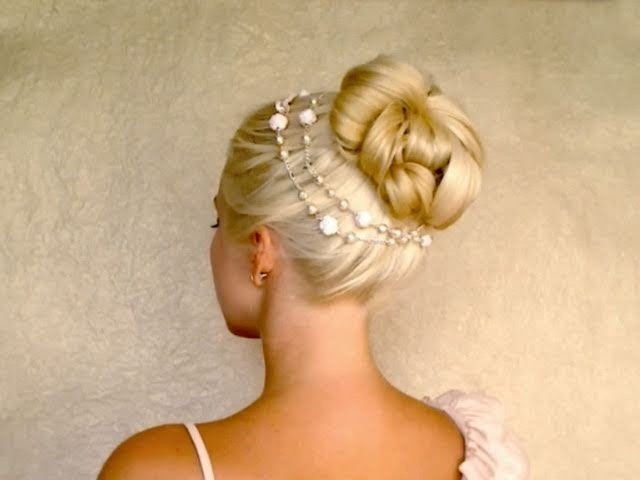 Easy wedding updo hairstyles for long hair tutorial Valentine's day bun with extensions