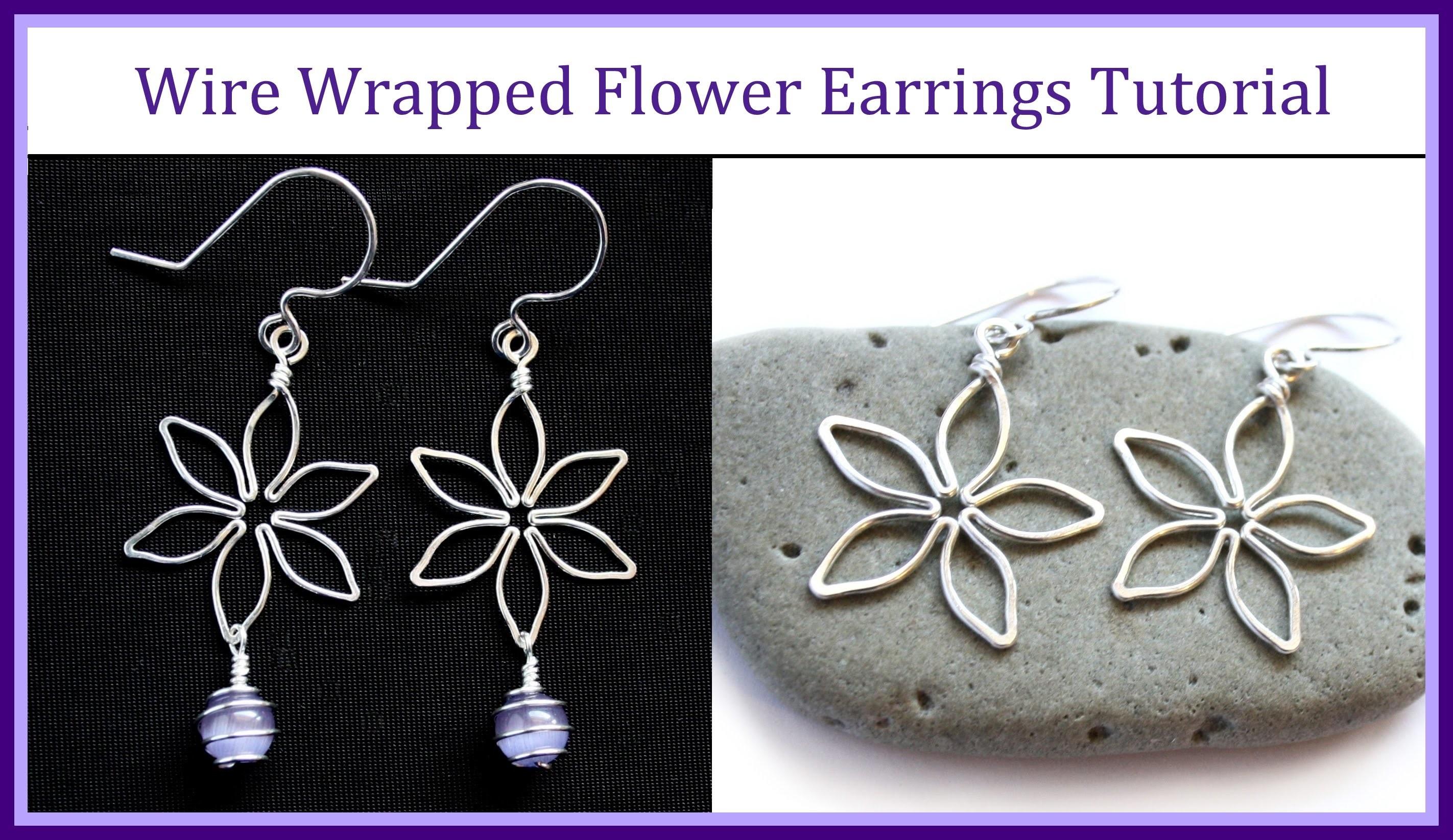 Easy Wire Wrapped Jewelry Tutorial : Flower Earrings Part 2