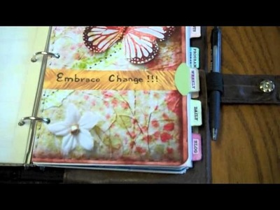 Friday FreeStyling - Recycling a Leather Jacket into a Faux Filofax cover.