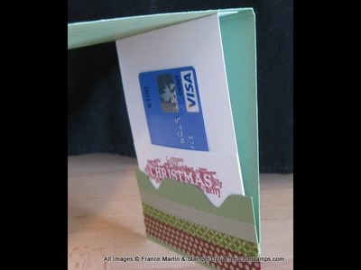 Gift Card Holder with Envelope Punch Board, frenchiestamps