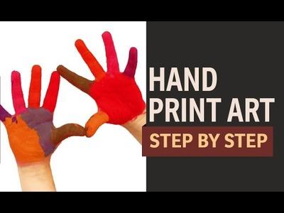 Hand Print Painting - Make a  Cow (Hindi)