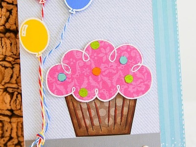 Handmade birthday card for young kid.