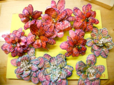 Handmade flowers without using any type of dies
