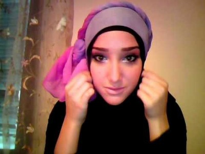 Hijab Tutorial #2 (Cute & YoungTwisty Head Design)