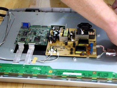 How to build a touchscreen from monitor with broken back-light.