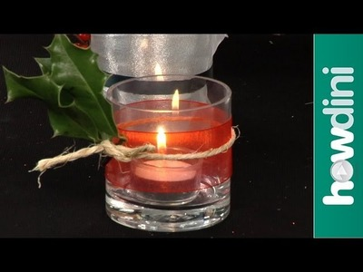 How to decorate votive candles