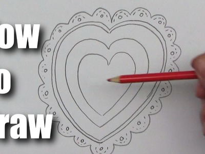 How To Draw a Valentine Heart 1