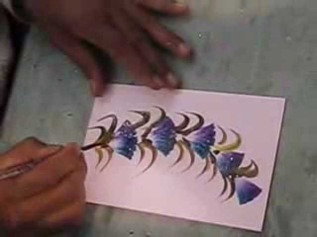 How to draw greeting cards in 2 minutes part 1 blue flower m4hsunfo