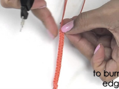 How to make a Macramé bracelet