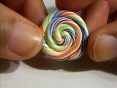 How To: Make a Rainbow Lollipop (Polymer Clay)