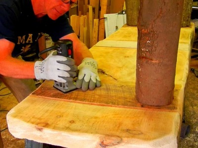 How to Make a Rustic Plank Table by Jim the Rustic Furniture Artist Part 19