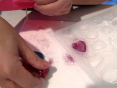How to make a Valentine's Day candy heart resin pendant