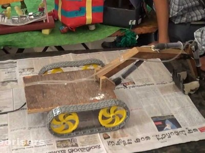 How to Make Jcb Procliner with Waste Materials - Ist Prize in Inspire Science Exhibition 2013