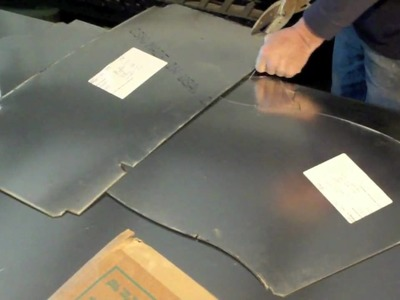 How to make sheet metal duct - Pieces and Labels