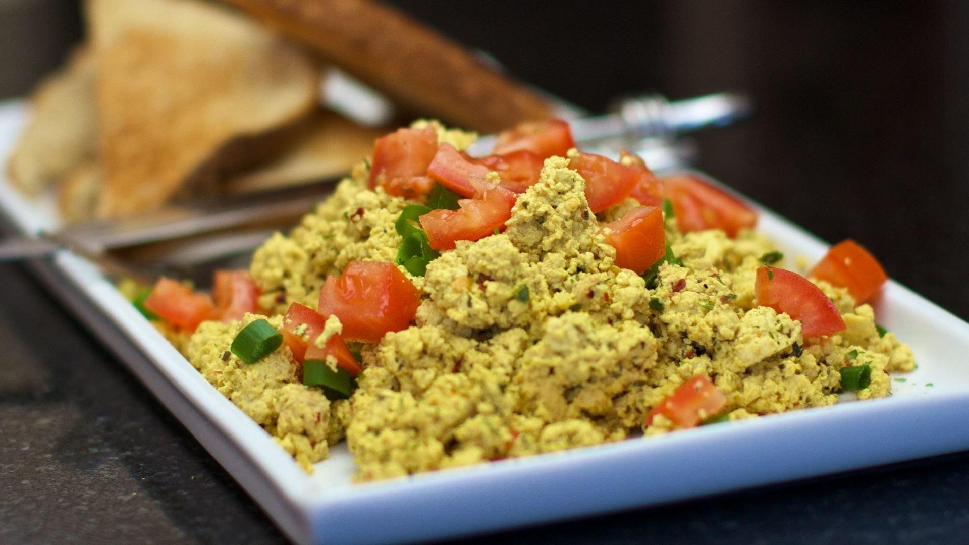 How to make Tofu Scramble - EASY Vegan breakfast scrambled eggs!