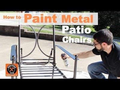 How to Paint Metal Patio Chairs -- by Home Repair Tutor