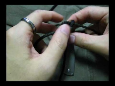 How to tie a square sinnet lanyard