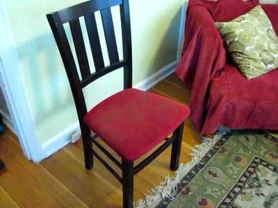 How to Upholster a Chair Seat, Part #1: dismantle the old cushion