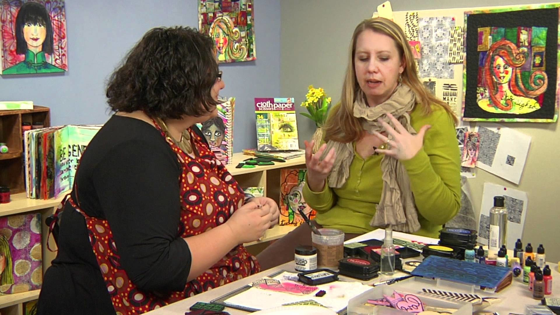 Interview with Julie Fei-Fan Balzer: Stamp-Making Adventures Cloth Paper Scissors Workshop DVD